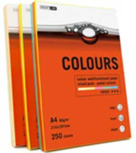 Бумага А4 Smartline Colours Mixed PS-пастель (250л=50л*5цв) уп10 арт.0215-321